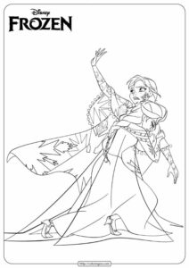 Printable Anna & Elsa Coloring Pages