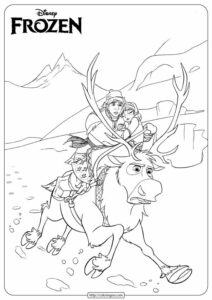 Disney Frozen Anna & Kristoff Coloring Pages