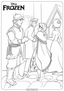 Disney Frozen Anna & Kristoff Coloring Page