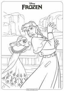 Disney Frozen Anna & Hans Coloring Pages