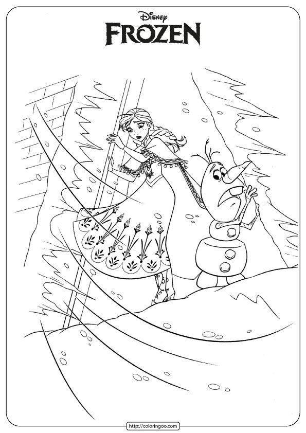 Disney Frozen Anna Olaf Coloring Pages