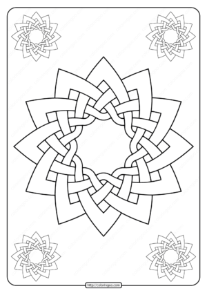 Celtic Knot-work Dodeca by Peter Mulkers