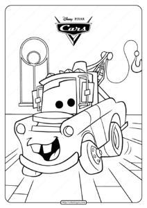 Disney Cars Tow Mater Truck Coloring Pages