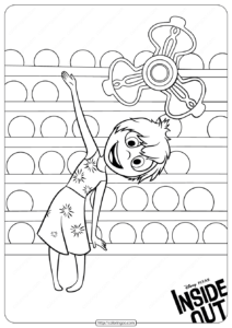 Disney Inside Out Joy Coloring Pages
