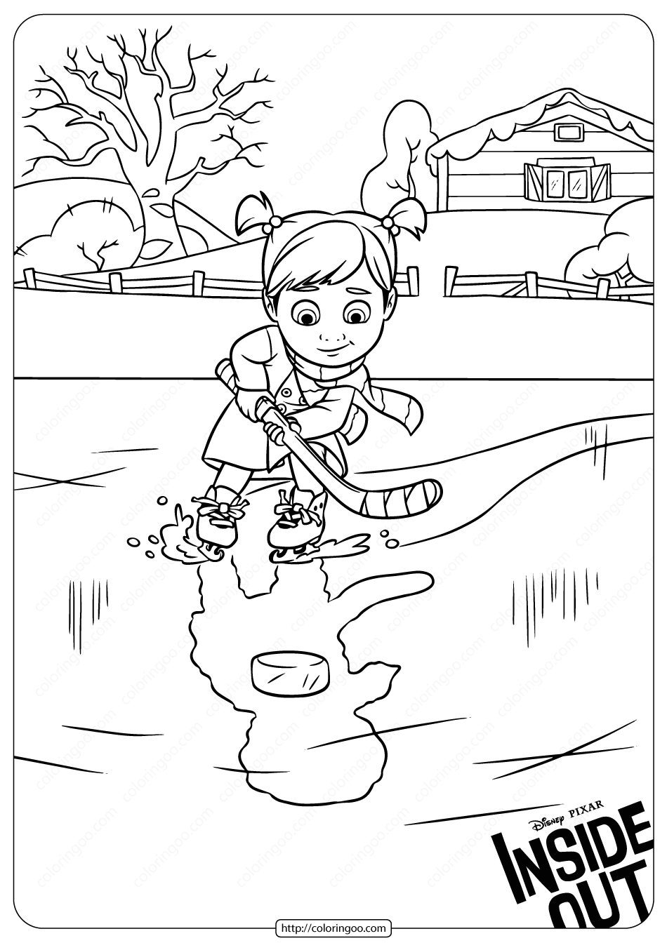 Disney Inside Out Riley Coloring Pages