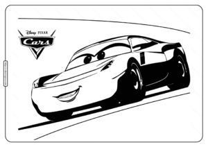 Disney Pixar Cars 3 Cruz Ramirez Coloring Pages