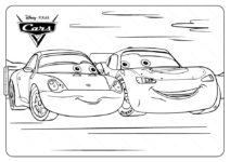 Disney Pixar Mcqueen Cars Coloring Pages