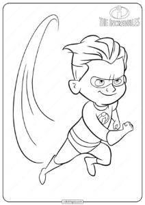Disney The Incredibles Dash Coloring Pages