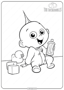 Disney The Incredibles Jack Jack Coloring Pages