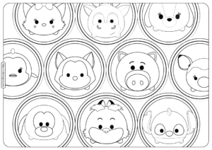 Disney Tsum Tsum Bubbles Coloring Pages