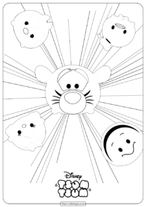Disney Tsum Tsum Burst Coloring Pages