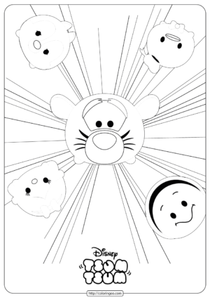 Disney Tsum Tsum Burst Coloring Pages