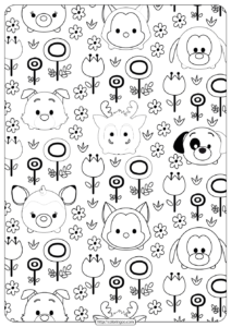 Disney Tsum Tsum Garden Coloring Pages