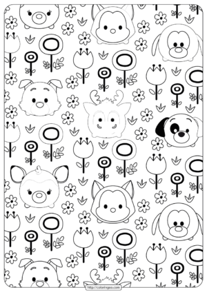 Disney Tsum Tsum Garden Coloring Pages