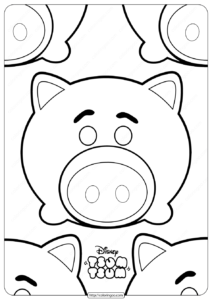 Disney Tsum Tsum Hamm Coloring Pages