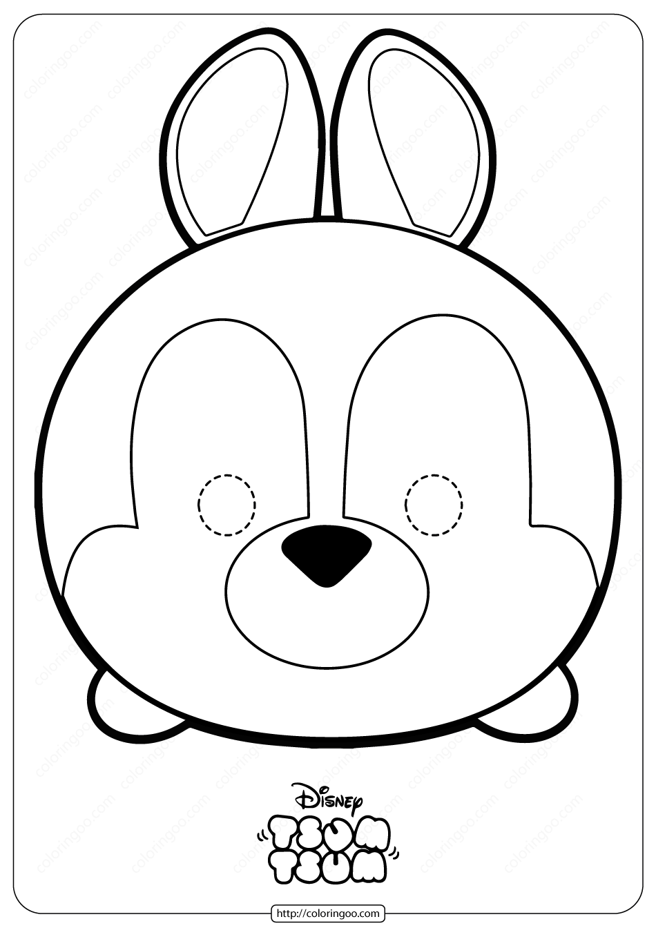 Disney Tsum Tsum Rabbit Mask Coloring