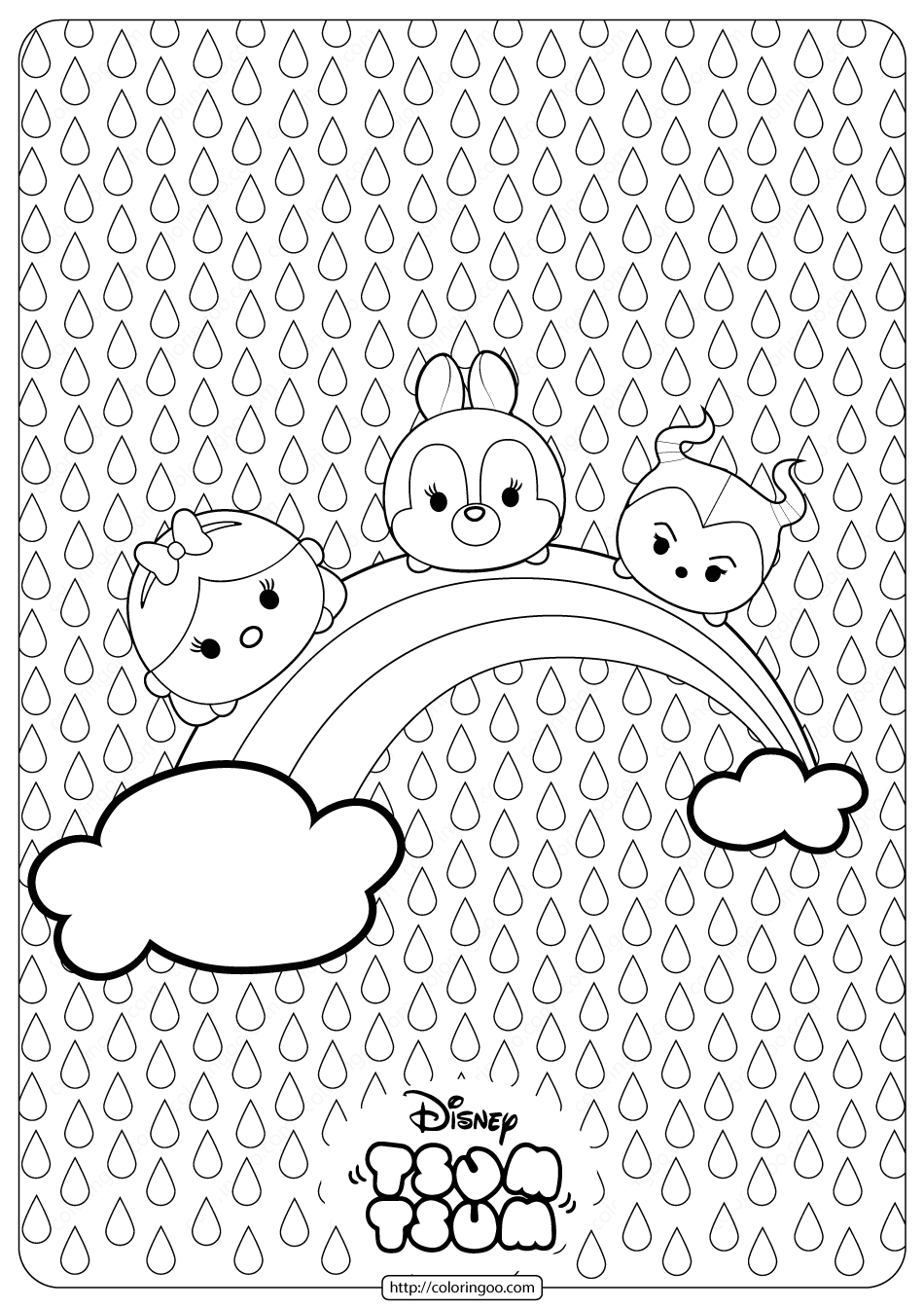 Disney Tsum Tsum Rainbow Coloring Pages