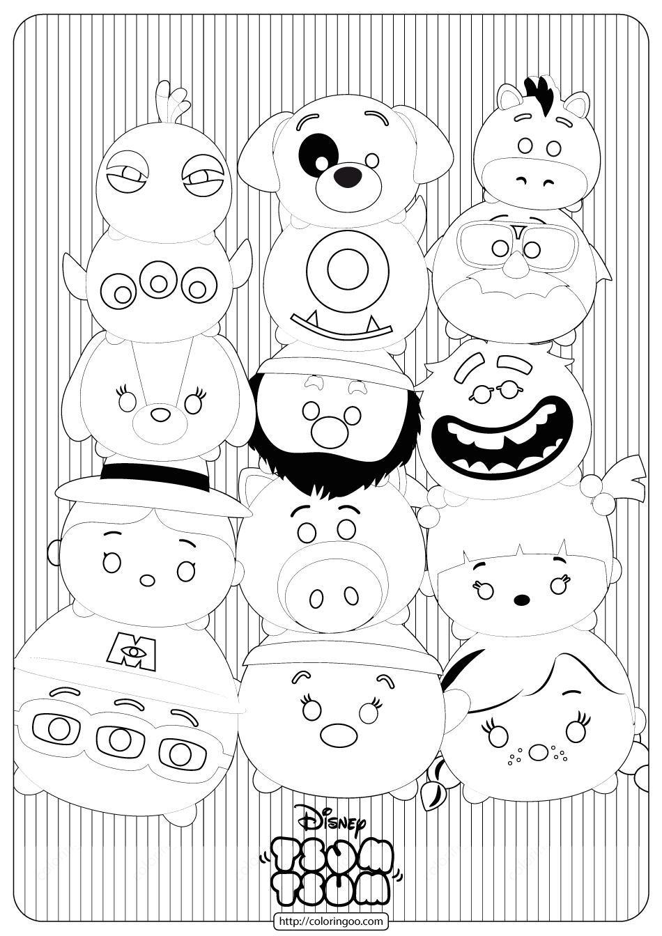 Disney Tsum Tsum Stack Coloring Pages