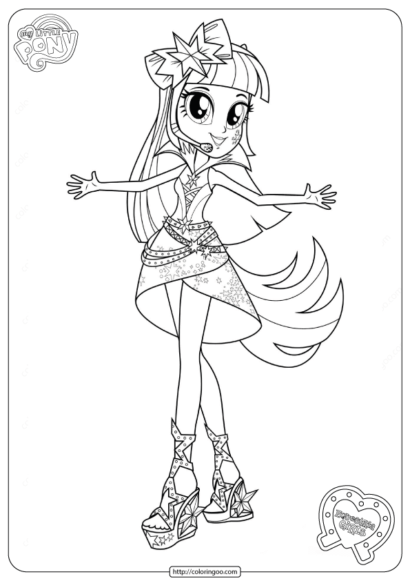 Mlp Equestria Girls Coloring Page New Rainbow Rocks