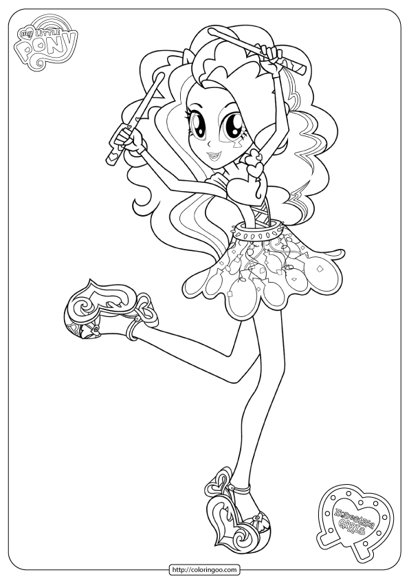 Equestria Girls Coloring Book Pages