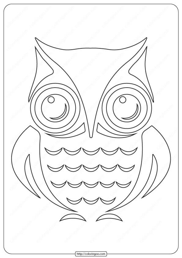 Printable Animals Owl Outline Coloring Pages
