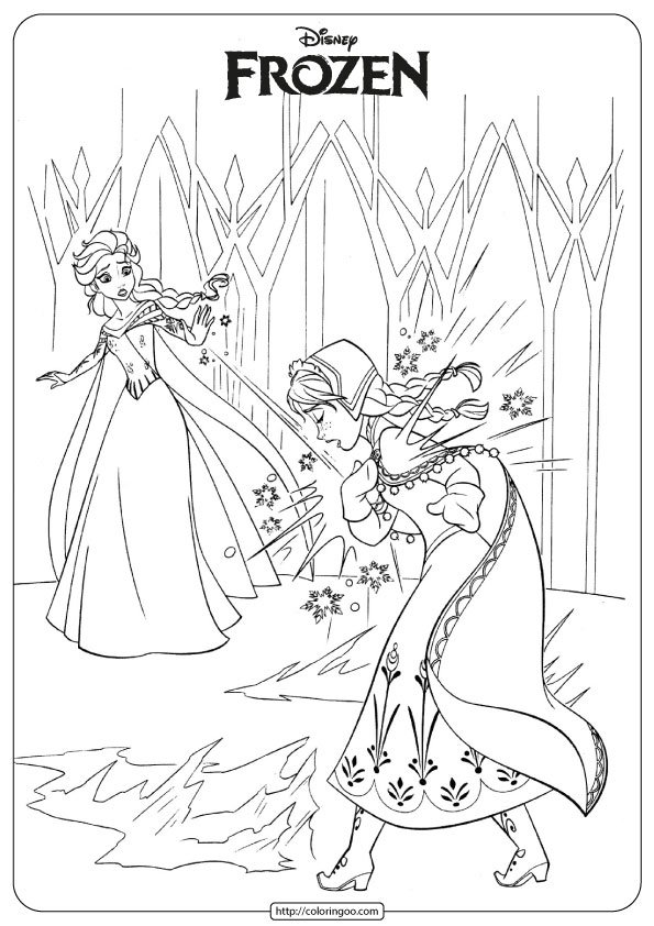 - Printable Frozen Elsa And Anna Coloring Page