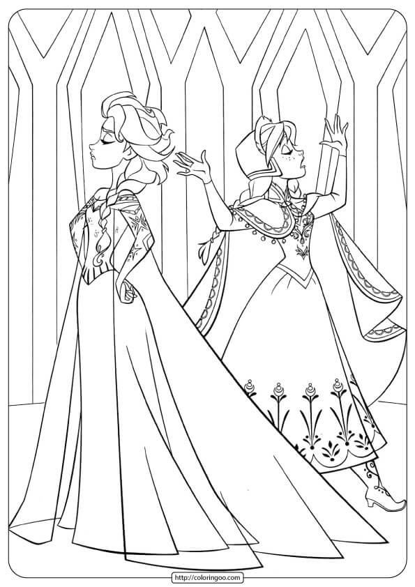 - Frozen Anna And Elsa Coloring Pages