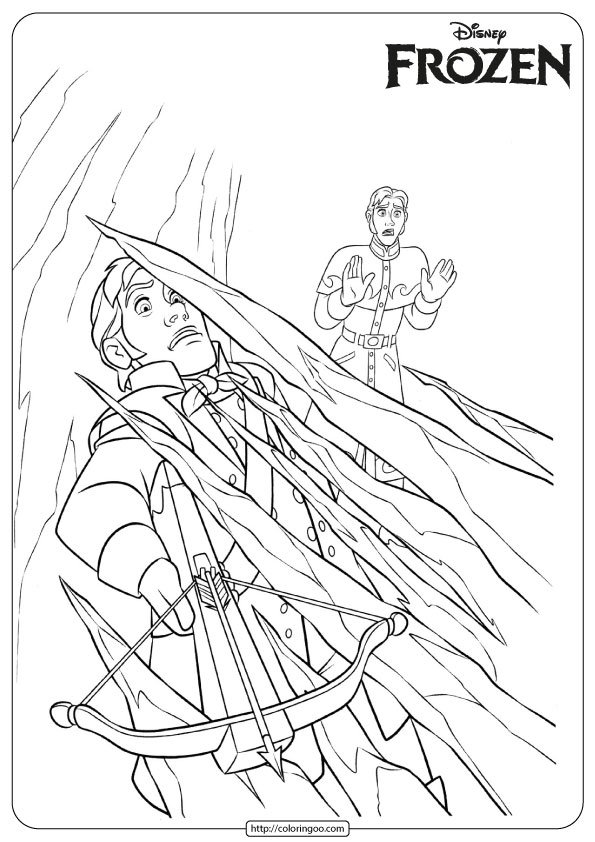 Frozen Elsa Defend Herself Coloring Pages