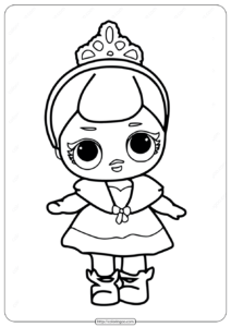 LOL Surprise Crystal Doll Coloring Pages