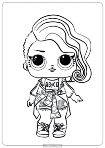 LOL Surprise Rocker Doll Coloring Pages