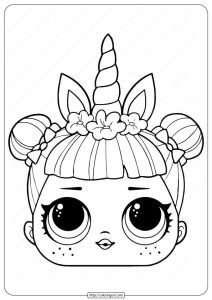 LOL Surprise Unicorn Mask Coloring Page