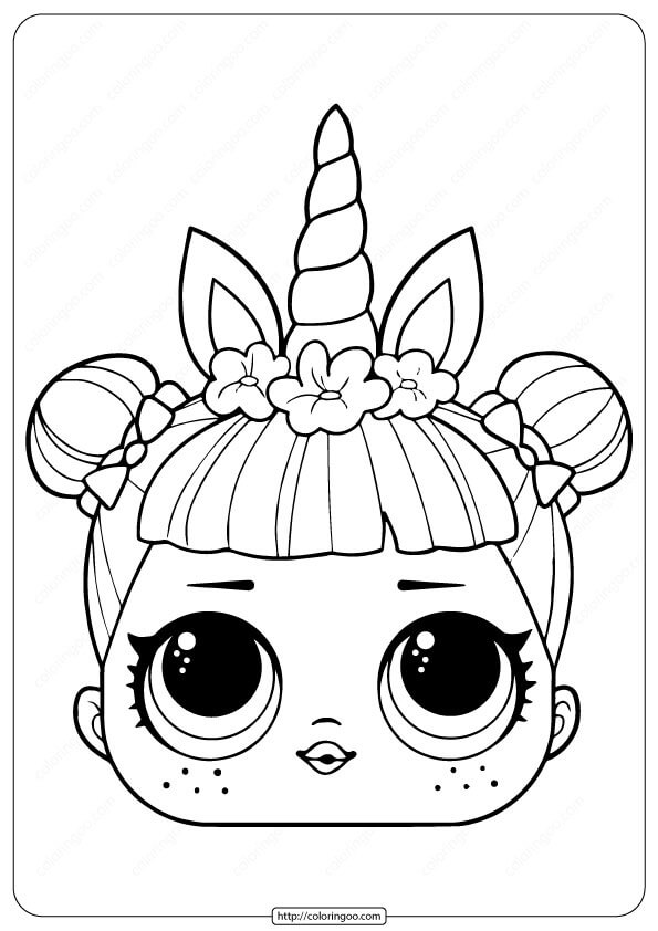 Lol Surprise Unicorn Mask Coloring Page