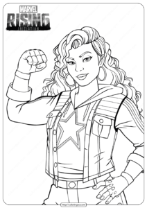 Marvel Rising Miss America Coloring Pages