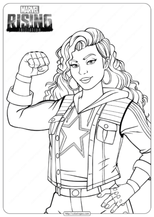 Marvel Rising Miss America Coloring Pages 1