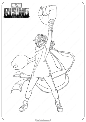 Disney Marvel Rising Ms Marvel Coloring Pages