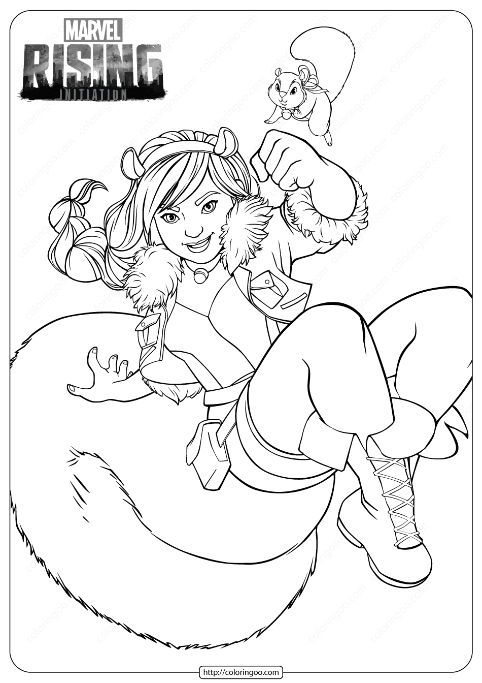 Marvel Rising Squirrel Girl Coloring Pages
