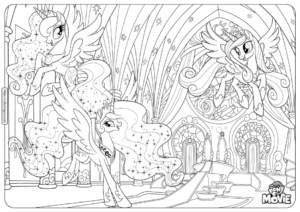 MLP Equestria Girls Coloring Pages Book