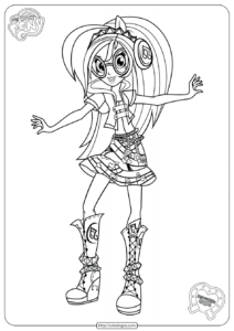 MLP Equestria Girls DJ Pon 3 Coloring Pages