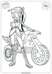 MLP Equestria Girls Friendship Games Coloring Pages
