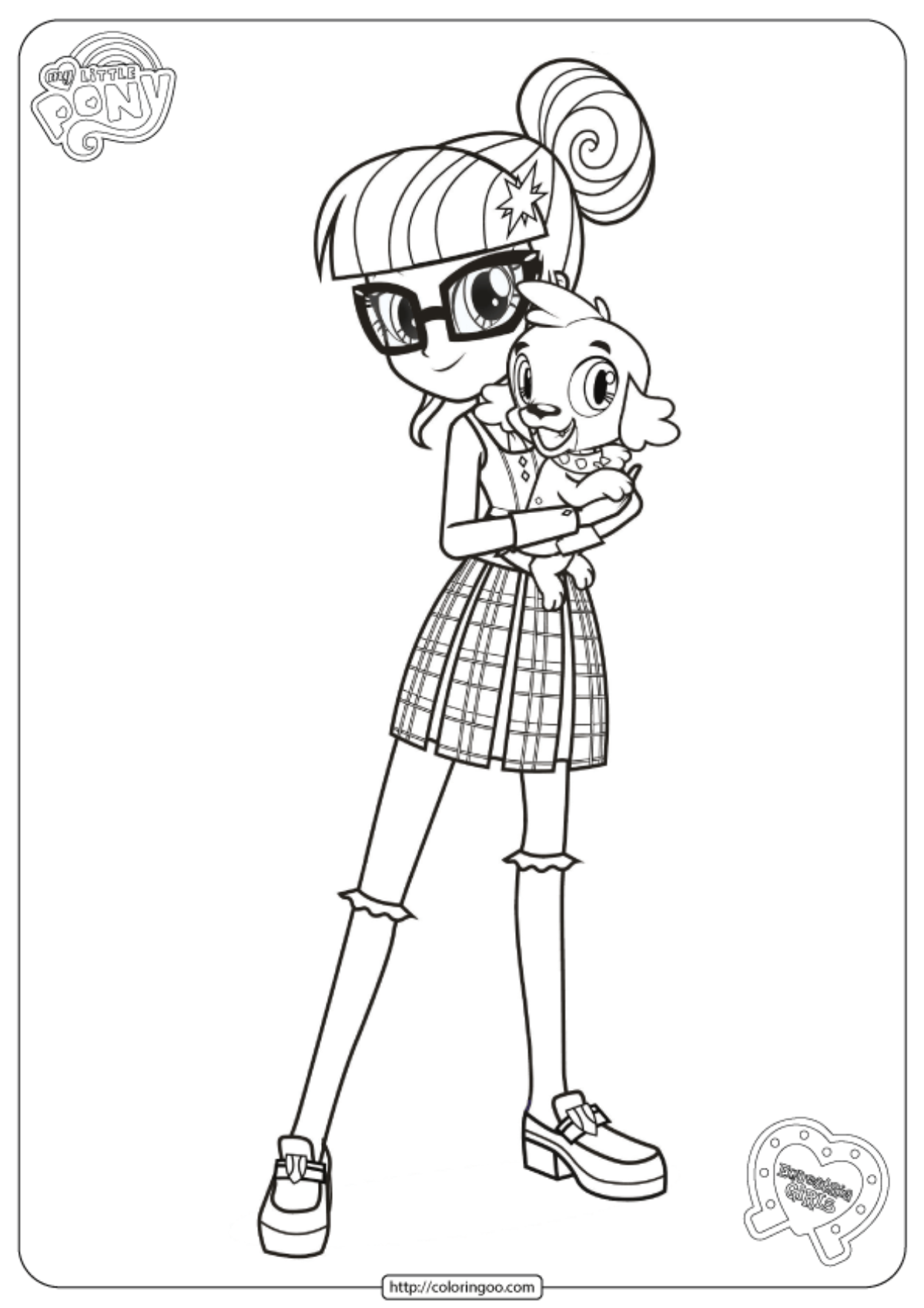 Mlp Equestria Girls Twilight Sparkle Coloring Page
