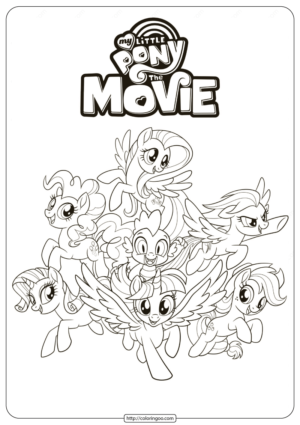MLP My Little Pony The Movie Coloring Pages 2