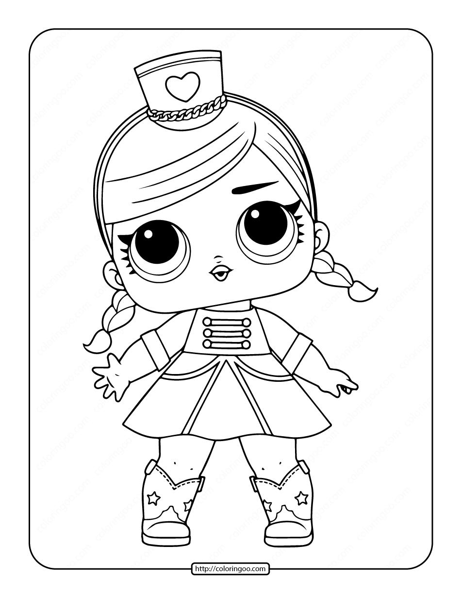 Printable Lol Surprise Doll Majorette Coloring Page