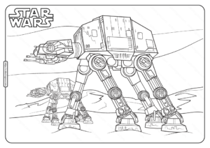 Printable Star Wars At At Coloring Pages