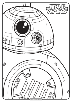 Printable Star Wars BB-8 Coloring Pages