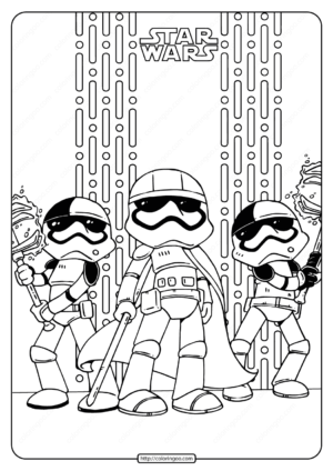 Printable Star Wars Captain Phasma Coloring Pages