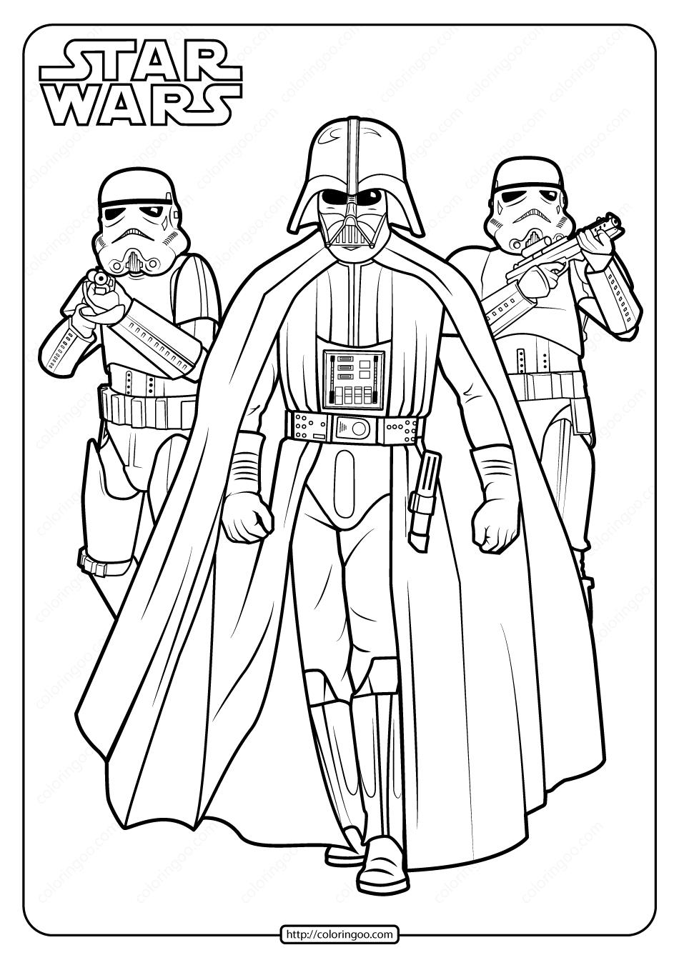 Printable Star Wars Darth Vader Coloring Pages