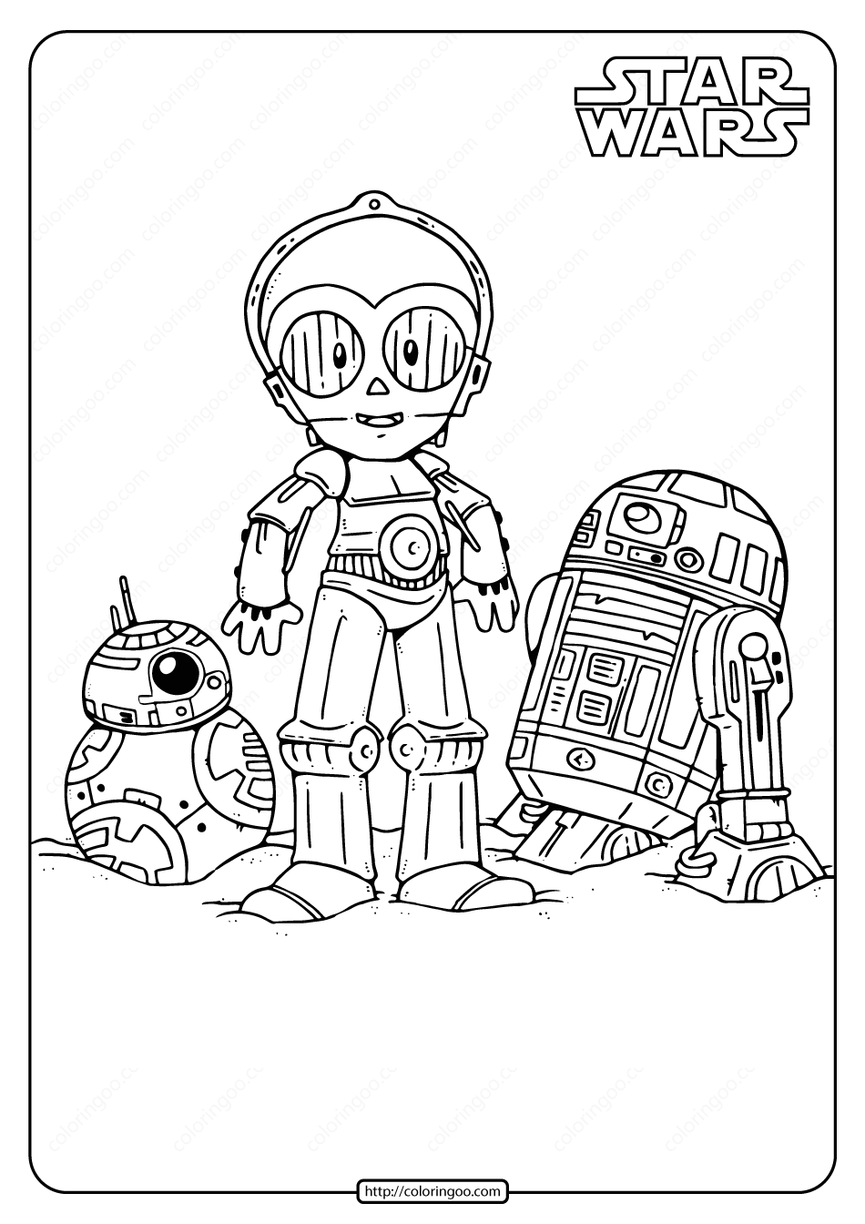 Printable Star Wars Droids Coloring Pages