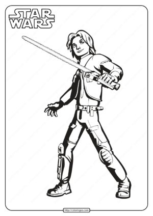 Printable Star Wars Ezra Bridger Coloring Pages