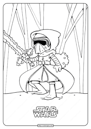 Printable Star Wars Kylo Ren Coloring Pages