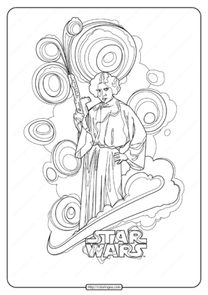 Printable Star Wars Princess Leia Coloring Pages